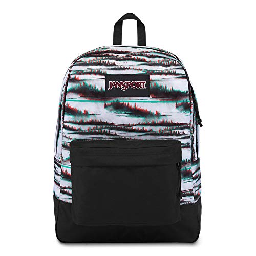 JanSport Black Label Superbreak Backpack - Lightweight School Bag | Foggy Dawn Print
