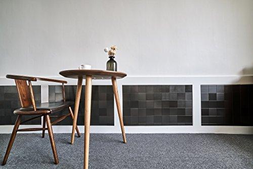 Home Interior Decor (Stainless Steel Home Interior Decor Peel and Stick Sticker Fire Retardant Backsplash Kitchen DIY Check Black (10cm x 10cm 8pcs))