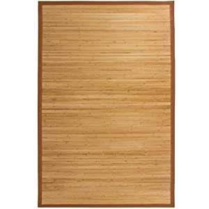Best Choice Products Bamboo Area Rug Carpet Indoor Outdoor Wood 5' X 8'