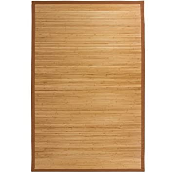 Best Choice Products Bamboo Area Rug Carpet Indoor Outdoor Wood 5u0027 ...