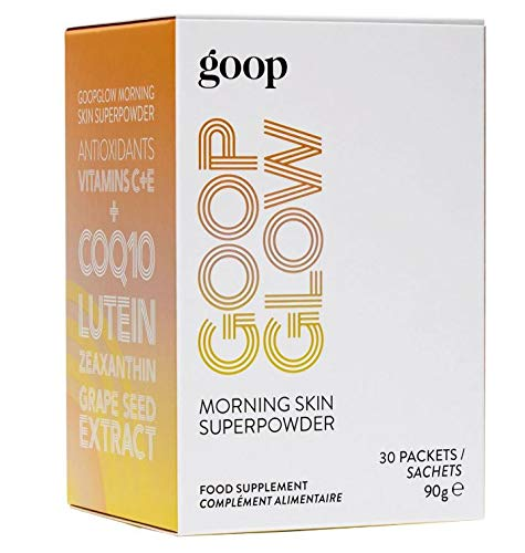 Goopglow Morning Skin Superpowder! 6 Potent Antioxidants, Vitamins C & E, Coq10, Grape Seed Extract, Lutein and Zeaxanthin! Drink Your Way to Glowing Skin! Choose from 30 Sachets or 5 Sachets! (30)