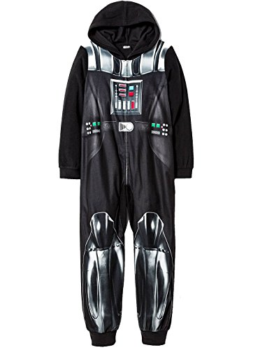 STAR WARS Boy's Size 10 DARTH VADER Hooded Footless Pajama Sleeper ()