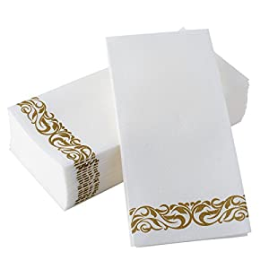 Bloomingoods Disposable Hand Towels Decorative Bathroom Napkins Soft And