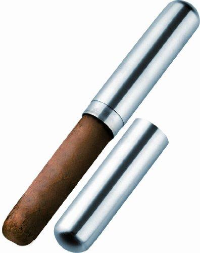 Visol VCASE505 Delta Satin Finish Stainless Steel Cigar Tube