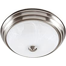 "Designers Fountain EVLED502-35-DF Modern Brushed Nickel LED Flush Mount with Alabaster Glass, 11"""