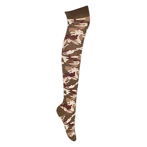 Camouflage Over the Knee Socks Fancy Dress Cosplay One Size (Sexy Camo Outfits)