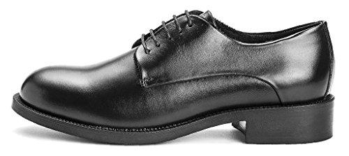 derby spazzolata scarpe liscio pelle FRAU 98P1 lacci nero donna Nero xqOwTx1I06