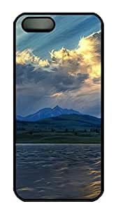 iPhone 5 5S Case Scenic View Clouds PC Custom iPhone 5 5S Case Cover Black