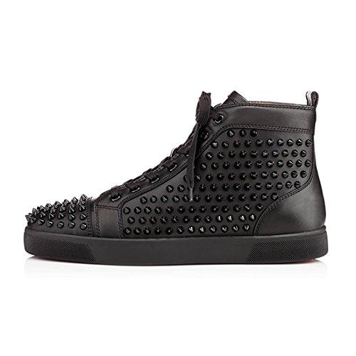 Scarpe Scarpe Scarpe Uomini Hightop Nero Cuckoo di Sneakers Stivali Rivet Rivet Rivet Gli Moda 1pBtx4w
