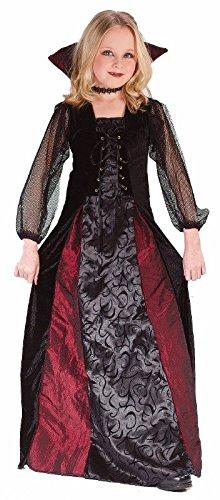 [Girls Gothic Maiden Vamp Costume Size Medium 8-10 by Fun World] (Girl Vampire Costume)