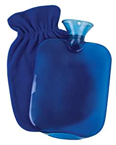 Carex Health Brands Carex Hot Water Bottle with Fleece Cover