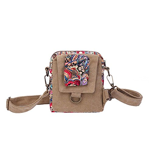 Bag Women's Shoulder Retro Satchel Travel Printed Bag Style Sports Vintage Canvas Bohemian pBpqaf
