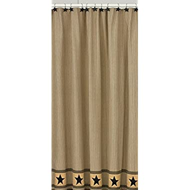 Park Designs Primitive Star Shower Curtain, 72 by 72