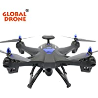 Binmer(TM)Global Drone X183 5.8GHz 6-Axis Gyro WiFi FPV 1080P Camera Dual-GPS Follow Me Brushless Quadcopter (black)
