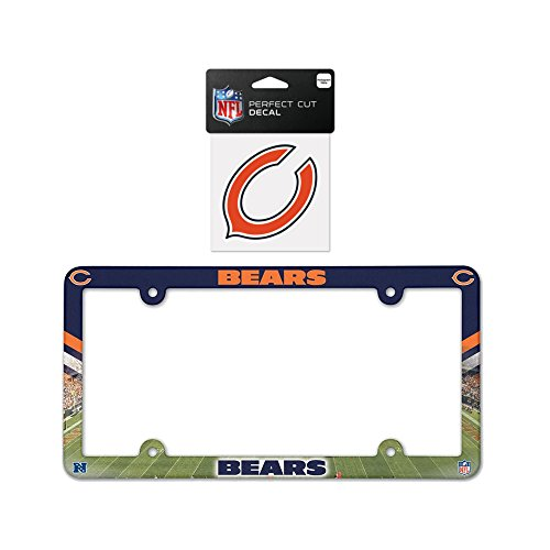 Chicago Bears Plastic License Plate Frame with 4