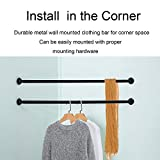 Lehom Industrial Pipe Clothes Rack 2 Pack 34 inch