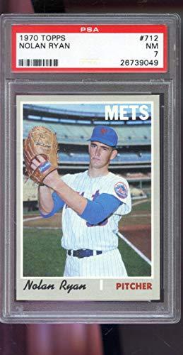 - 1970 Topps #712 Nolan Ryan New York Mets MLB NM PSA 7 Graded Baseball Card