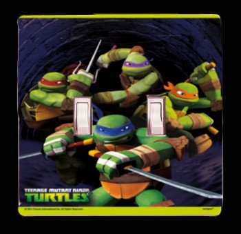 Nickelodeon Teenage Mutant Ninja Turtle's Light Switch Cover And/or Outlet (2x Toggle)