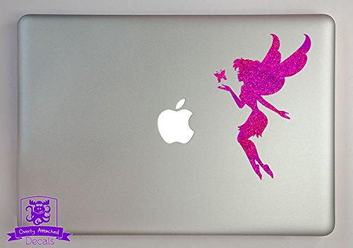 """Fairy with Butterfly 15"""" Laptop Specialty Vinyl Decal - Purple-Metal-Flake"""