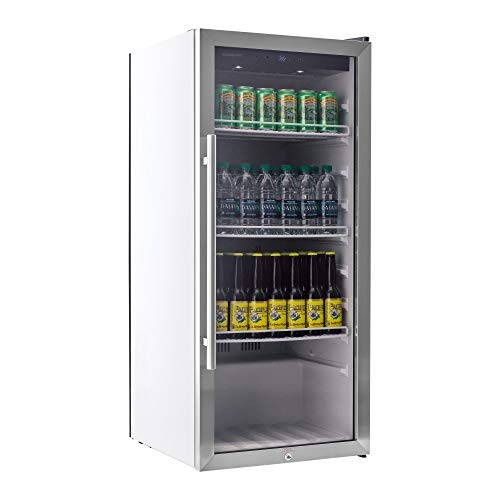 EdgeStar VBR240 Stainless Steel 22 Inch Wide 8.6 Cu. Ft. Commercial Beverage Merchandiser with Temperature Alarm