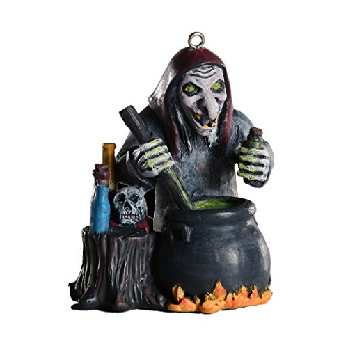 Wicked Witch Horror Ornament - Scary Prop and Decoration for Halloween, Christmas, Parties and Events - Linnea Quigley Series - By HorrorNaments -