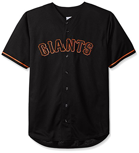 MLB San Francisco Giants Men's Short Sleeved Texture Replica Jersey with Pop Applique, 3X, - Francisco Shorts San Mens Giants
