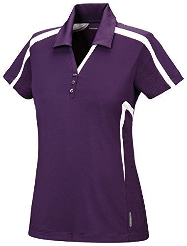 Mulberry Wholesale (North End Ladies Accelerate Performance Polo Shirt. 78667 - Large - Mulberry Purple)