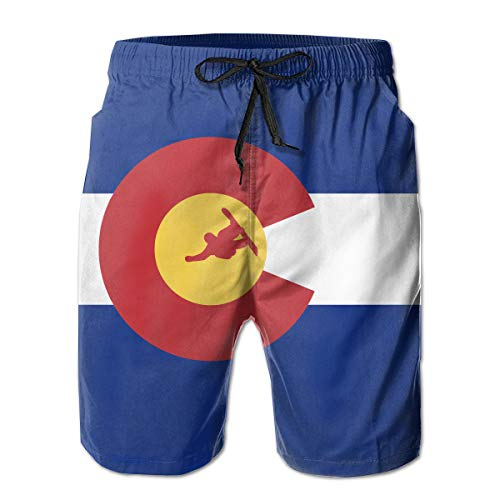Colorado Snowboard for Men Board Shorts Beach Swim Shorts Workout Shorts