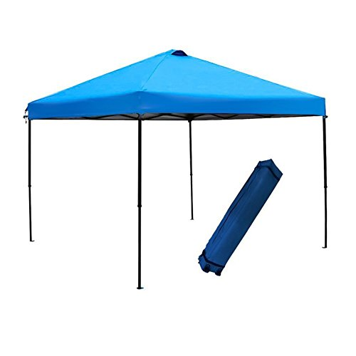 Abba Patio 10 X 10 ft Outdoor Pop Up Canopy Portable Folding Canopy Instant Shelter with Roller Bag, Blue