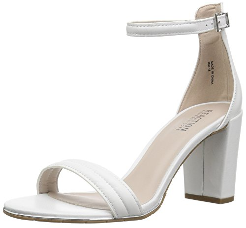 Kenneth Cole REACTION Women's Lolita Strappy Heeled Sandal, White, 11 M -