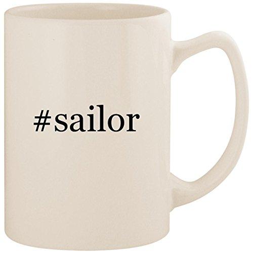 #sailor - White Hashtag 14oz Ceramic Statesman Coffee Mug Cup