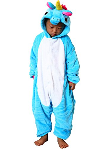 [QQonsie Unicorn Kids Onesie Pajamas Children Animal Cosplay Halloween Costumes] (Halloween Costumes 2017 For Teens)