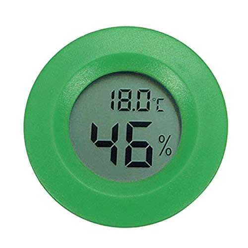 RETYLY Hygrometer Thermometer Digital LCD Monitor Round Humidity Meter Gauge for Indoor Greenhouse Basement Babyroom Outdoor Tool