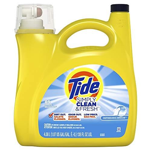 Tide Simply Clean & Fresh HE Liquid Laundry Detergent, Refreshing Breeze Scent 138 fl oz per bottle set of 4