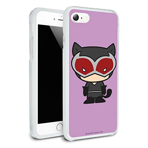 Batman Catwoman Cute Chibi Character Protective Slim Fit Hybrid Rubber Bumper Case for Apple iPhone 7 (Catwoman Iphone 4 Case)