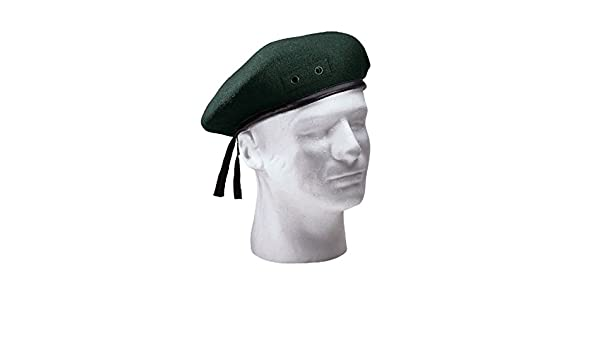 Amazon.com  Military Style Wool Beret Green Red Black Blue Maroon Mens  French Hat All Sizes  Clothing 5c642accf
