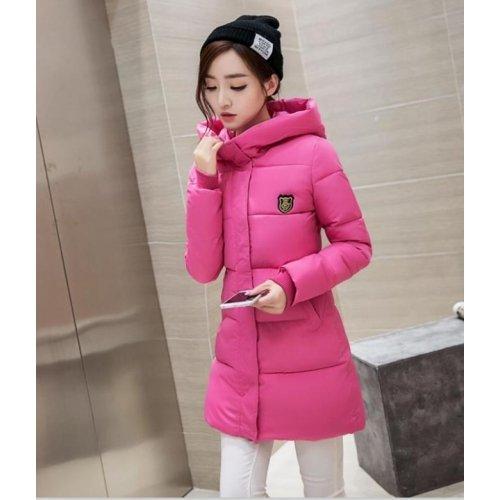 Taille Manteau Rouge Adrienne Rose L'hiver Coton 2016 Rembouré Montagne Capushe Veste S Doudoune À Femme Mode x6T0wCwBq