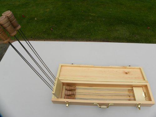 Super Skewer Hand-crafted Wooden Case with 6 Original Super Skewers - FREE STANDARD SHIPPING IN USA by Super Skewer
