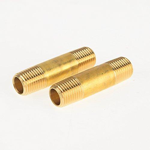 Boeray 2pcs 3//8x3//8 Male NPT Thread Metal Brass Pipe Fitting