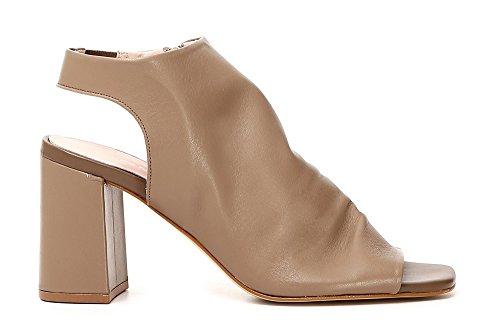 Noir Nero CAF Heel Sandal Woman 010 Ankle LC428 Boots Zip Skin Black CAFèNOIR C45q7TT