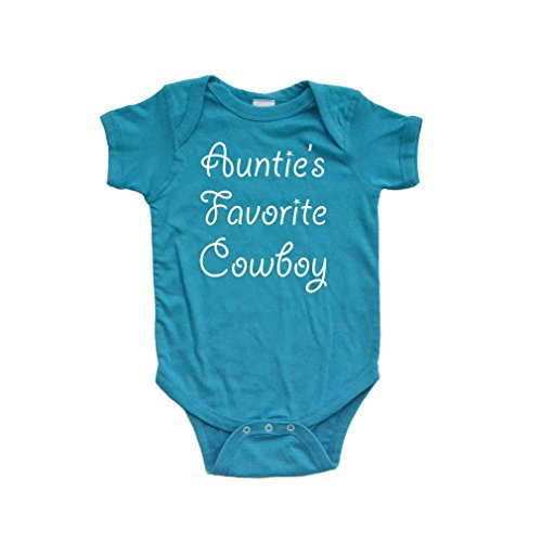 Apericots Auntie's Favorite Cowboy Country Western Short Sleeve Baby Boys Bodysuit