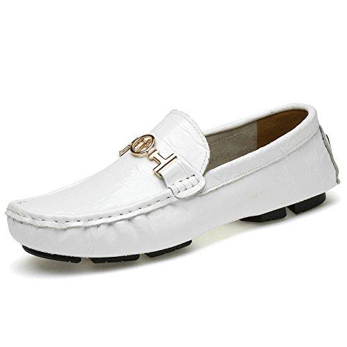 Scarpe Piede Inghilterra In white YXLONG Guida Da Uomo Scarpe Piselli Scarpe Pigro Da Uomo Scarpe Uomo Nuovi Moda Pelle Da Estate Yq7qS1wA