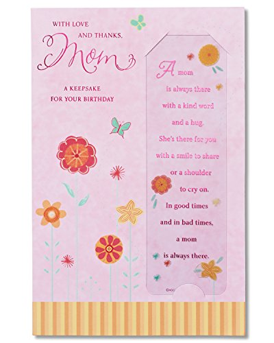 American Greetings A Keepsake for Your Birthday Birthday Card for Mom with Bookmark