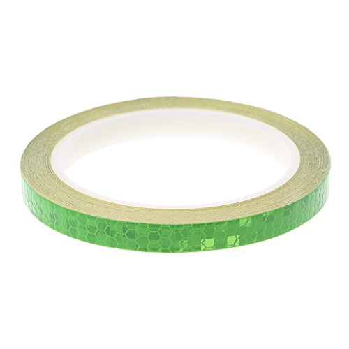 ULKEME Bicycle Reflector Reflective Sticker Safety Warning Cycle Fluorescent Decal Tape (green)