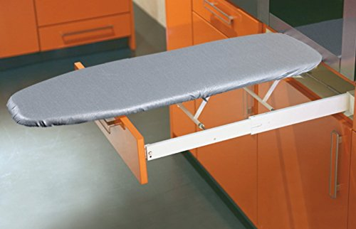 Ironing board by Hafele for drawer installation, folding