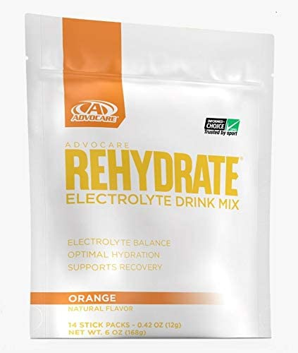 AdvoCare Rehydrate Orange Single-Serving 14-Pouches 0.42 oz