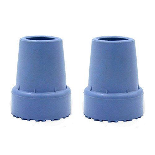 Crutch Tips Round/Tire Grain Large Heavy Duty Rubber Cane Pads with Non Slip Bottom for Easy Walk (7/8 inch, 3/4 inch, Pack of 2) by SHNUFHBD (Image #1)