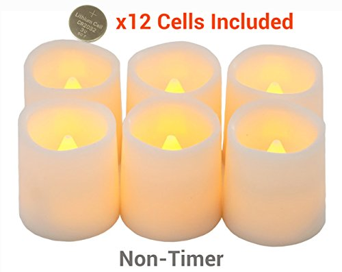 Festival Delights Battery Operated Candles, 1.5x1.75 inch, Set of 6