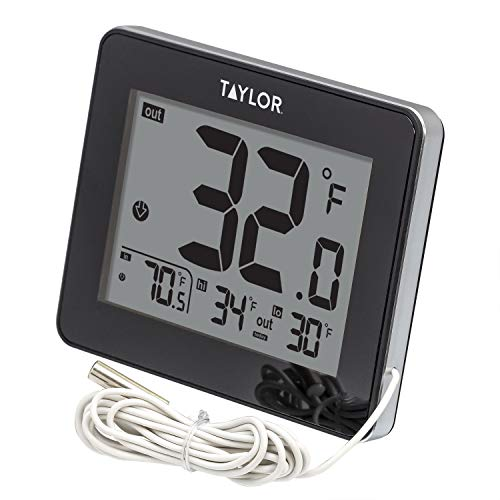 Taylor Wired Digital Indoor/Outdoor Thermometer (Window Thermometer)