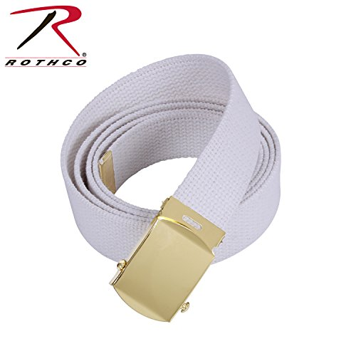 Military Color Web Belts (White w/Gold)